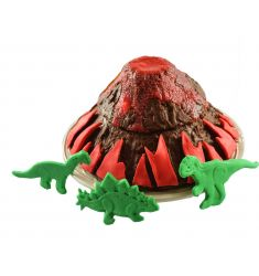 Moule volcan et dinosaures en silicone